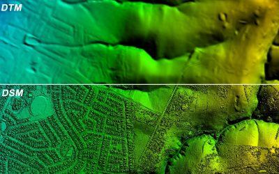 DEM's, DTM's and DSM's in Land Surveying